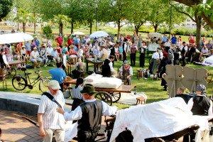 Markttreiben auf der Gartenschau Mühlacker: Arti per via aus Bassano
